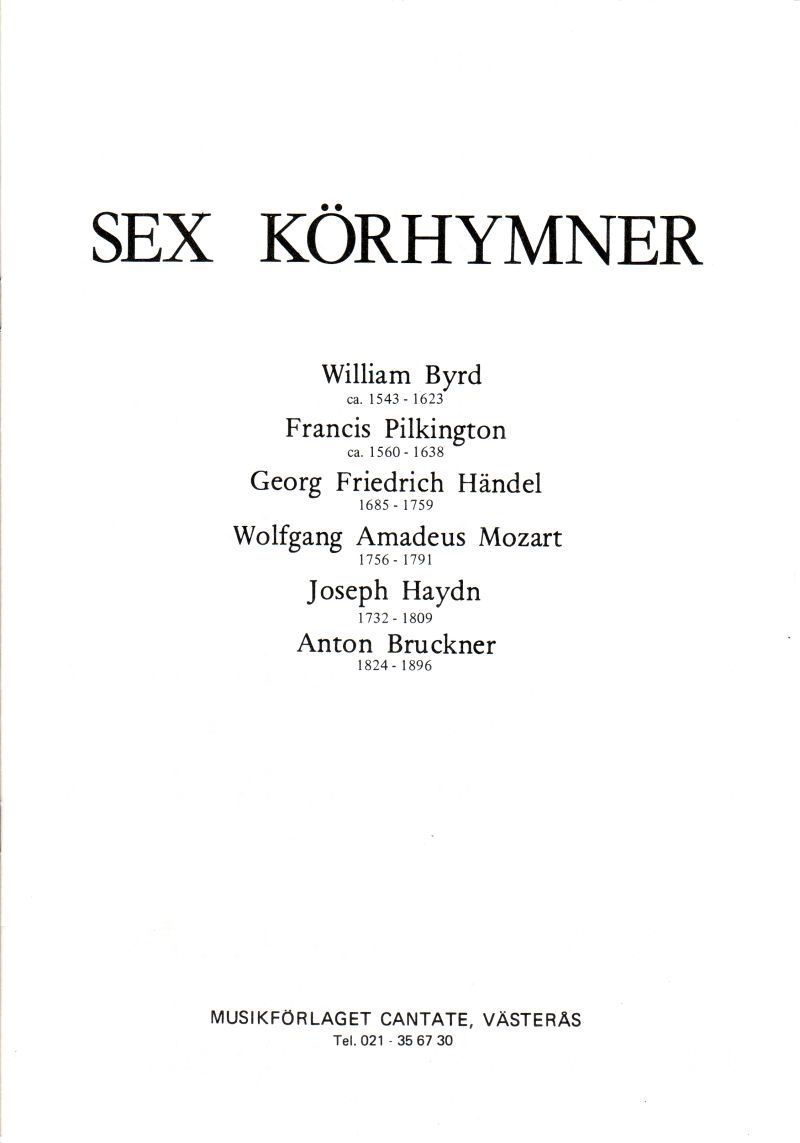 Sex körhymner