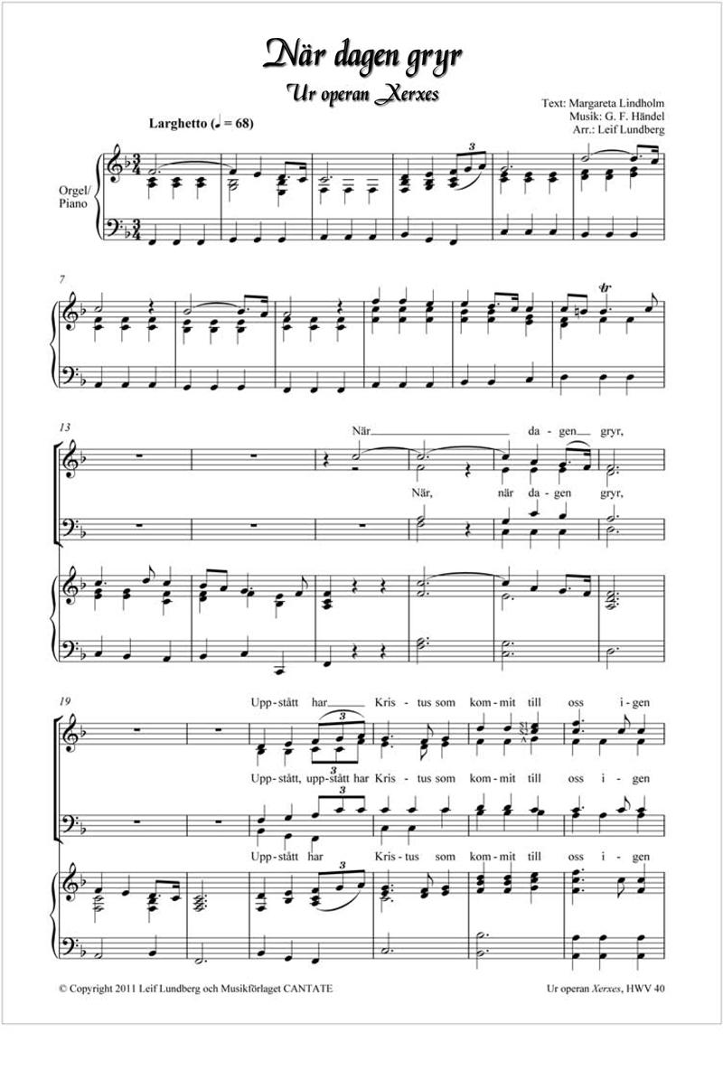 När dagen gryr, Händel 2